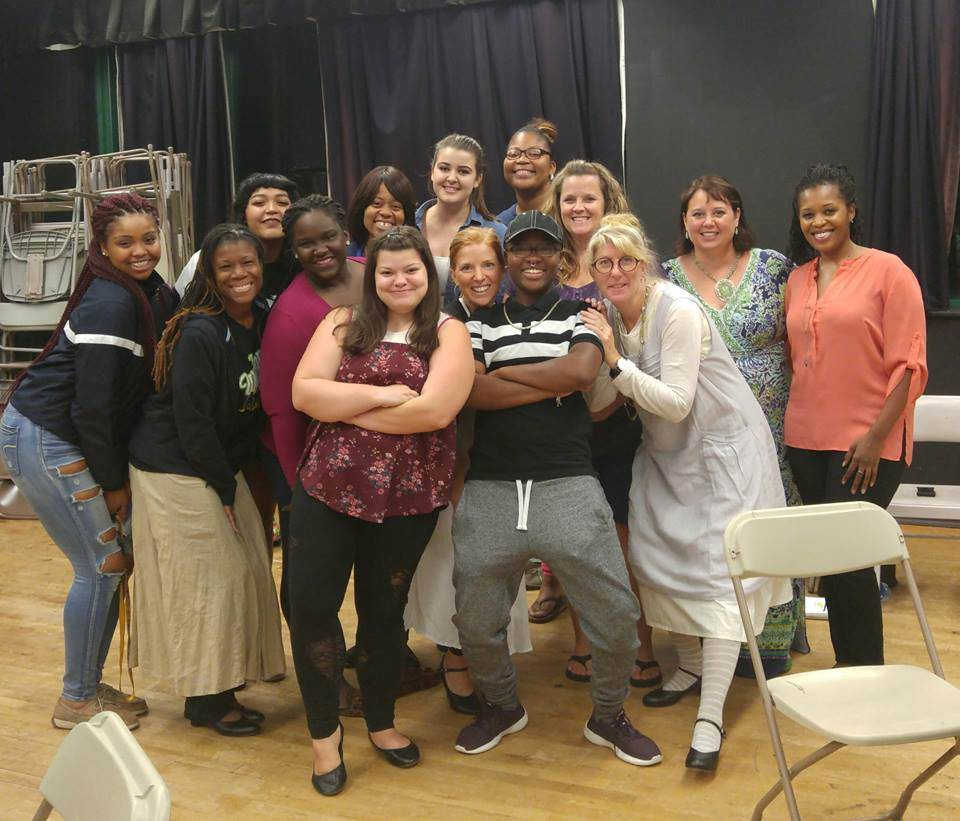 Cast of Sister Act Rehearsal