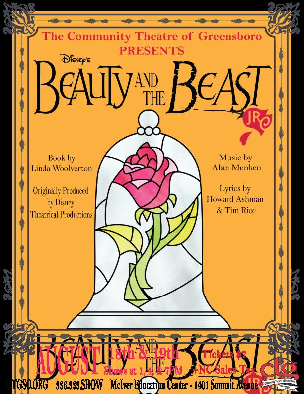 Disney S Beauty The Beast Jr Community Theatre Of Greensboro